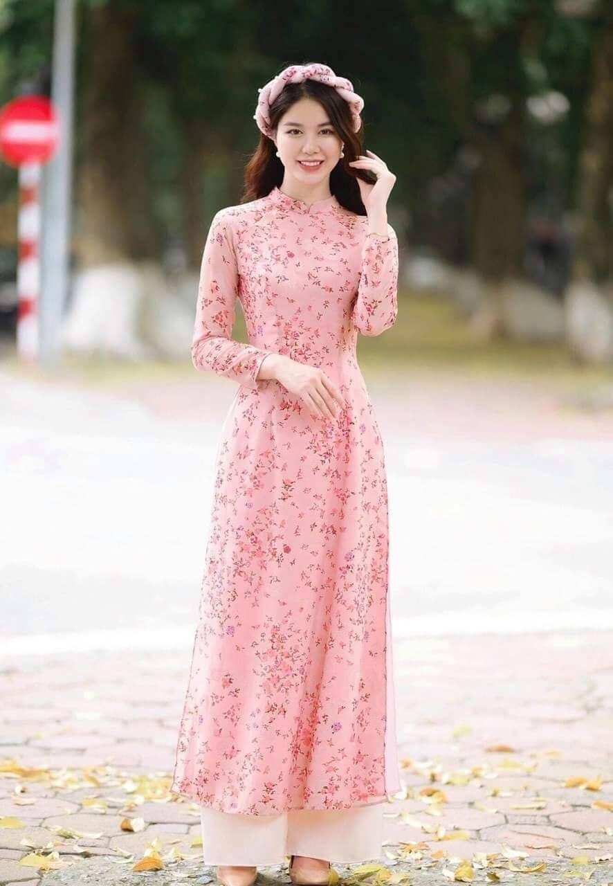 Top 10+ mẫu áo dài hoa nhí đẹp nhất HOT TRENDS 2021 cho các nàng 2